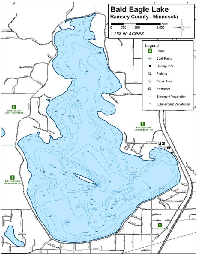 Bald Eagle Lake Map