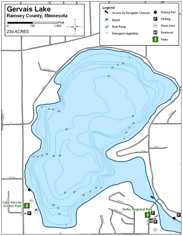 Gervais Lake Map